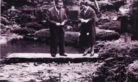 昭和40年5月12日 天皇皇后両陛下(庭園)