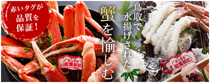 鳥取で水揚げされた蟹を愉しむ