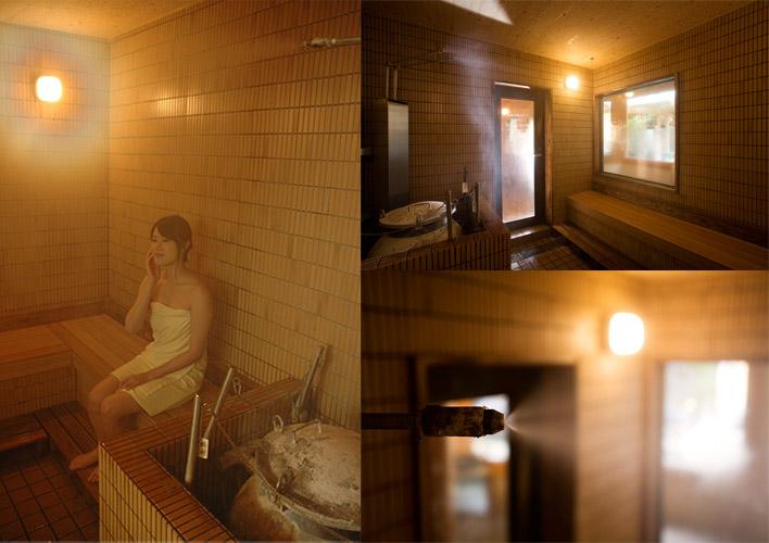 ラジウム蒸気風呂