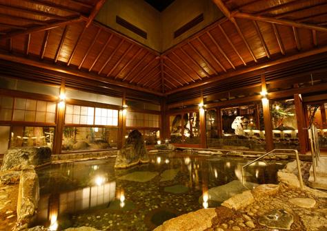 大浴場「楽山の湯」1F