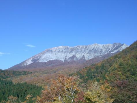 紅葉広がる大山